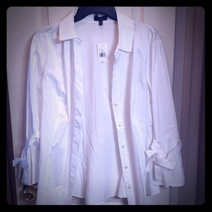 NWT The limited white  dress blouse